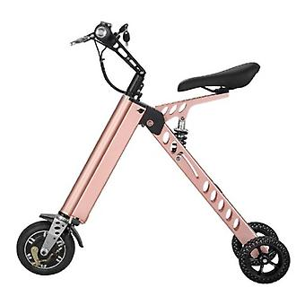 Stuff Certified® Ultralight Electric Folding Smart e Scooter - 250W - 8 inch - three wheels - Pearl Gold