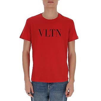 Valentino Tv3mg10v3lea15 Men's Red Cotton T-shirt