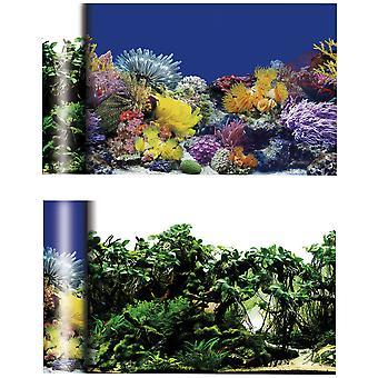 Ica Korallen / Pflanzen Hintergrund (Fische , Aquariumsdeko , Poster)