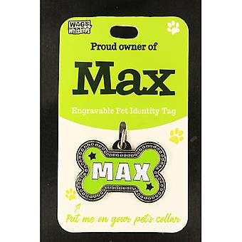 Wags & Whiskers Pet Identity Tag - Max