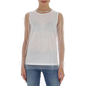 Fabiana Filippi Jed260b964c019vr1 Women's White Polyester Sweater