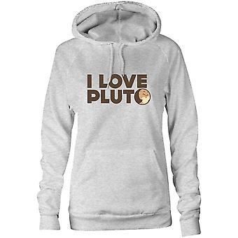 Moletom feminino capuz hoodie - Eu amo Plutão
