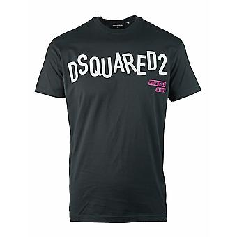 Dsquared2 Distorted Logo Cool Fit Black T-Shirt