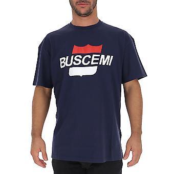 Buscemi Bmw19243navyblue Men's Blue Cotton T-shirt
