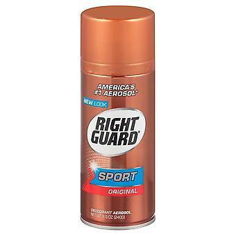 Right guard sport deodorant aerosol, original, 8.5 oz