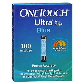 One touch ultra blauwe test strips, 100 ea