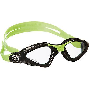 Aqua Sphere Kayenne Junior Goggle - Clear Lens - Black/Lime