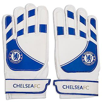 Chelsea FC Official Football Gift Youth Goalkeeper Goalie Gloves Blue