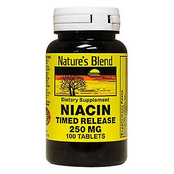Nature's blend niacin, 250 mg, time released tablets, 100 ea