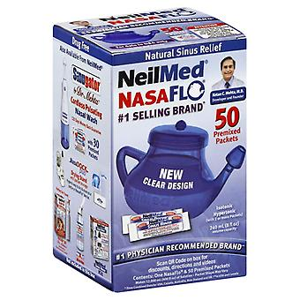 Neilmed nasaflo neti pot with 50 premixed refill packets, 1 ea