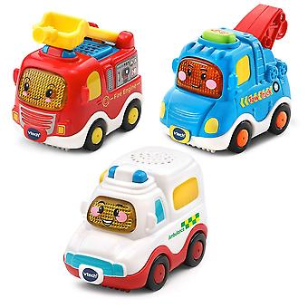 VTech Toot Toot Drivers 3 Car Pack Emergency Vehicles