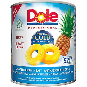 Tropical Gold Pineapple Slices in Juice 52 Count