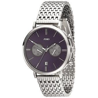 JOBO mannen horloge quartz analoog RVS datum horloge