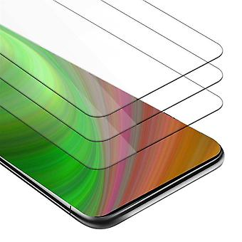 Cadorabo 3x Tank Foil for ZTE Nubia Z20 - Protective Film in KRISTALL KLAR - 3 Pack Tempered Display Protective Glass in 9H Hardness with 3D Touch Compatibility