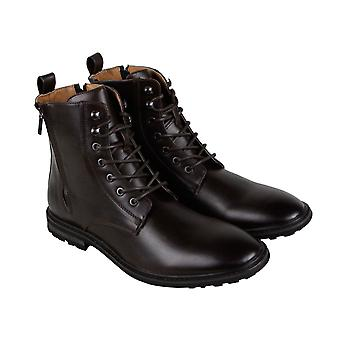 Robert Wayne Thatcher  Mens Brown Lace Up Casual Dress Boots Shoes