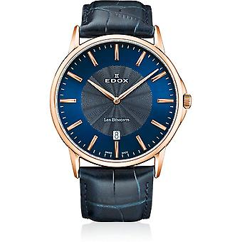 Edox - Wristwatch - Men - Les Bémonts - Ultra Slim - 56001 37R BUIR