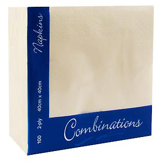 Combinations Champagne Dinner Napkins 40cm 2ply