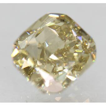 Cert 1.09 Carat Fancy Yellow VS1 Cushion Natural Loose Diamond 5.84x5.38mm