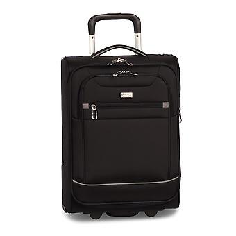 Fabrizio Worldpack Skyline Carro de equipaje de mano S, 4 ruedas, 51 cm, 27 L, negro