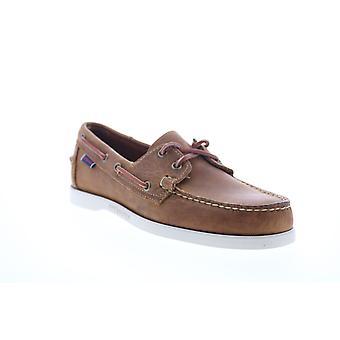 Sebago Portland Crazy Horse  Mens Brown Loafers & Slip Ons Boat Shoes