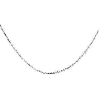 Circle Made with Swarovski Crystal Chain Pendant Necklace Sterling Silver TJC