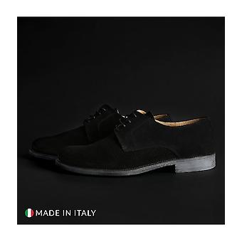 SB 3012 - Shoes - Lace-up shoes - 06_CAMOSCIO_NERO - Men - Schwartz - EU 44