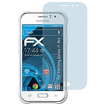 atFoliX Panzerfolie kompatibel mit Samsung Galaxy J1 Ace Glasfolie 9H Schutzpanzer