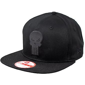 Punisher Symbol Noir sur Black New Era 9Fifty Chapeau réglable