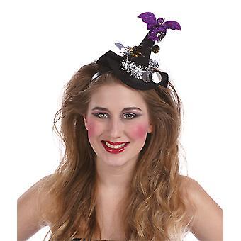 Hexenhut Fledermaus Haarreif Accessoires Karneval Halloween Hexe