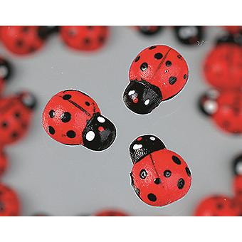 13mm Wooden Ladybirds for Crafts - Pack of 60