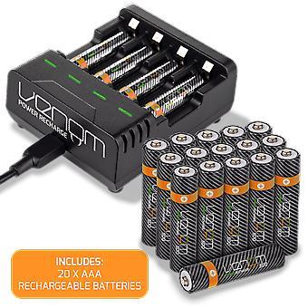 Ricarica di potenza Veleno - stazione di ricarica più 20 x aaa 500mah batterie ricaricabili