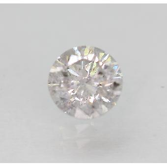 Certified 0.51 Carat G Color Round Brilliant Enhanced Natural Diamond 4.87mm