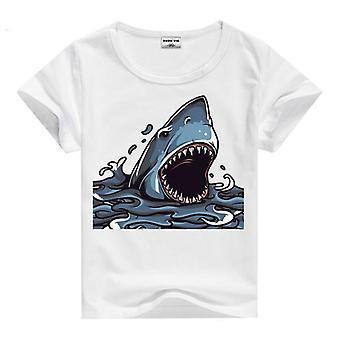 Summer Cotton Short Sleeve T-Shirt, Shark, Infant