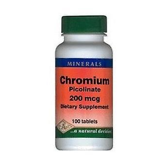 Picolinate de chrome 100 comprimés de 200μg