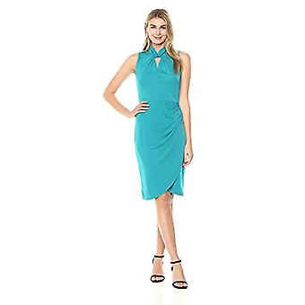 Brand - Lark & Ro Kvinnor & Apos; s Ärmlös Twist Neck Dress, Harbor Blue, Sm...