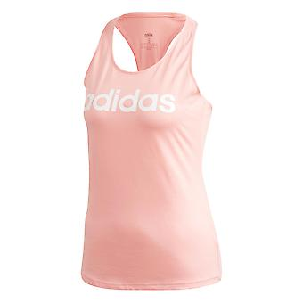 adidas Essentials Linear Slim Damen Damen Fitness Training Weste Tank Pink