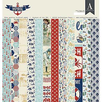Almofada de papel Authentique Voyage 12x12 Polegada