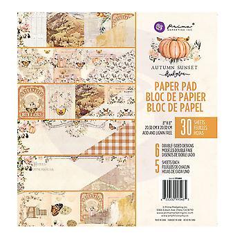 Prima markedsføring høst solnedgang 8x8 tommers papir pad