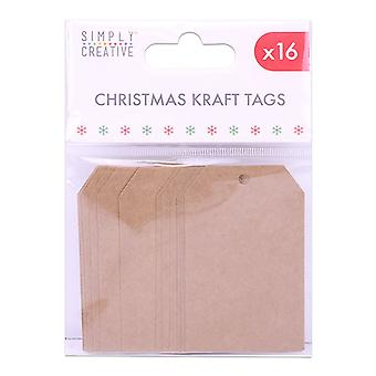 Simplemente Creative Christmas Kraft Tags