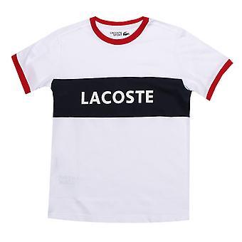 Boy's Lacoste Junior Sport Panel T-paita valkoinen