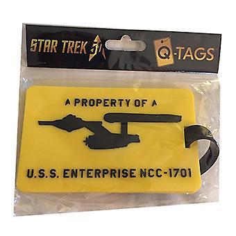 Bagage Tag - Star Trek - Enterprise Q-Tag Ny str-0077