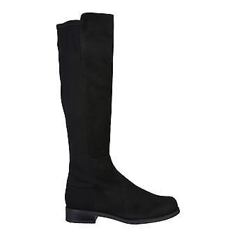 Stuart Weitzman Halfnhalfsrgblk Women's Black Leather Boots