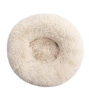 Comfortable Donut Cuddler Round Ultra Soft Washable Dog And Cat Cushion Bed For Winter