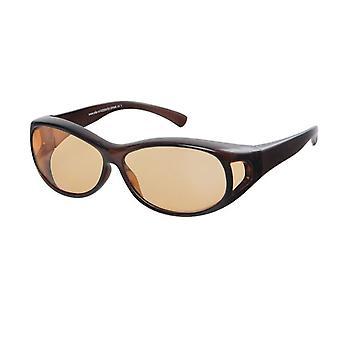 Óculos de Sol Marrom Unissex com lente laranja VZ0007D