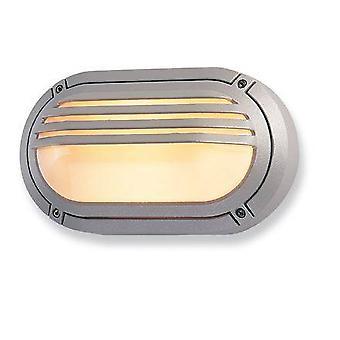 Firstlight Vérone - 1 Lumière murale extérieure légère - 60W Silver IP54, E27