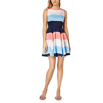 Maison Jules   Colorblocked Fit Flare Dress