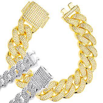 ICED OUT Кубинский ссылка бронированный браслет цепи - 18mm золото