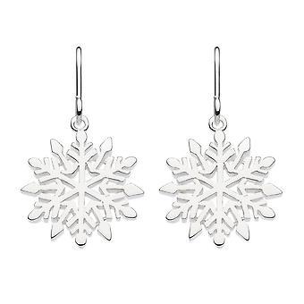 Dew Sterling Silver Falling Snowflake Drop Earrings 68008HP027