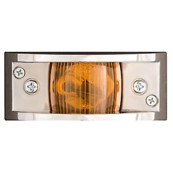 Optronics MC81-AS Chrome Plated Clearance Light Amber