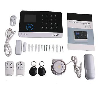 WIFI GSM RFID Wireless Smart Voice Security Tyverialarm systems kit